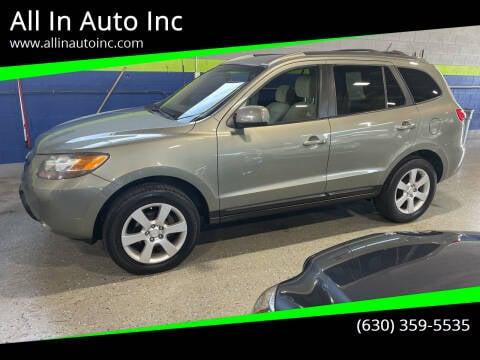 2007 Hyundai Santa Fe for sale at All In Auto Inc in Addison IL