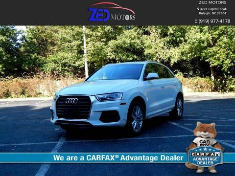 2016 Audi Q3 for sale at Zed Motors in Raleigh NC