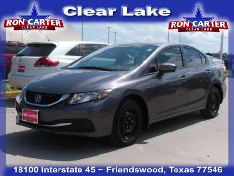 2015 Honda Civic for sale at Ron Carter  Clear Lake Used Cars in Houston TX