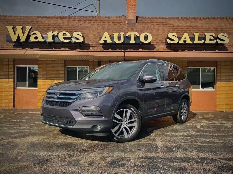 2017 Honda Pilot for sale at Wares Auto Sales INC in Traverse City MI