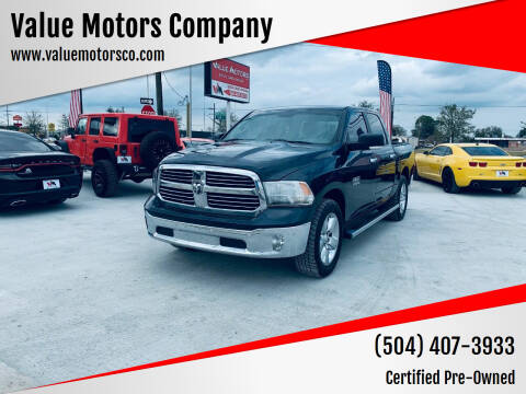 2015 RAM Ram Pickup 1500 for sale at Value Motors Company in Marrero LA