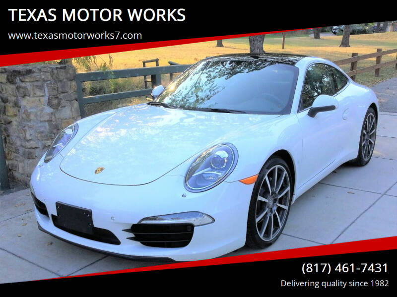 2013 Porsche 911 for sale at TEXAS MOTOR WORKS in Arlington TX
