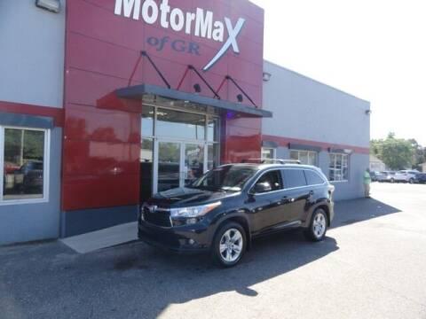 2016 Toyota Highlander for sale at MotorMax of GR in Grandville MI