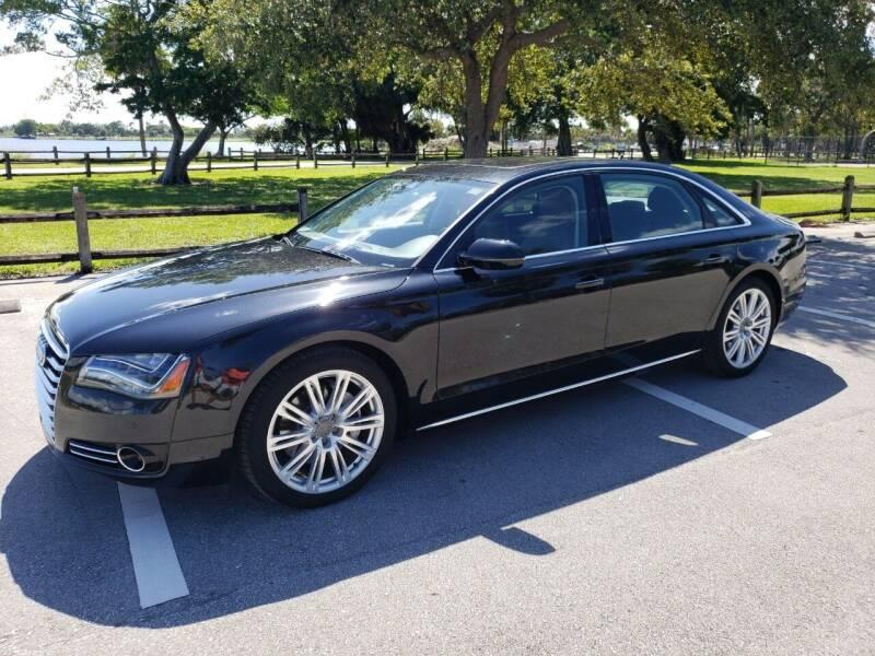 2014 Audi A8 L for sale at KK Car Co Inc in Lake Worth FL