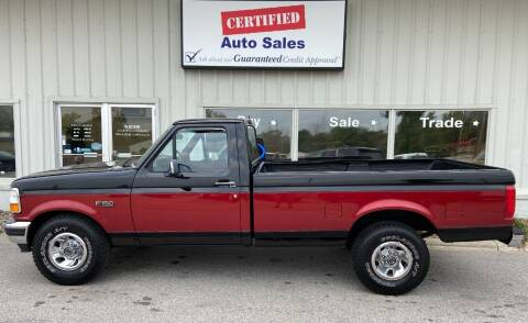 1996 Ford F-150 for sale at Certified Auto Sales in Des Moines IA