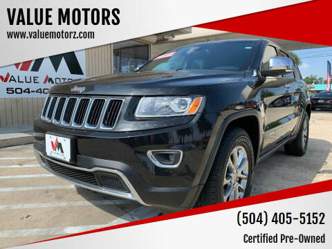 2015 Jeep Grand Cherokee for sale at VALUE MOTORS in Kenner LA