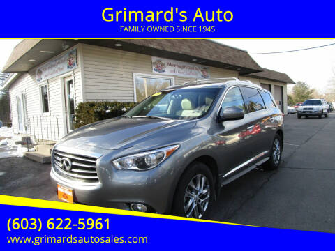 2015 Infiniti QX60 for sale at Grimard's Auto in Hooksett, NH