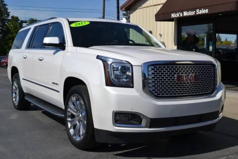 2017 GMC Yukon XL for sale at Nick's Motor Sales LLC in Kalkaska MI