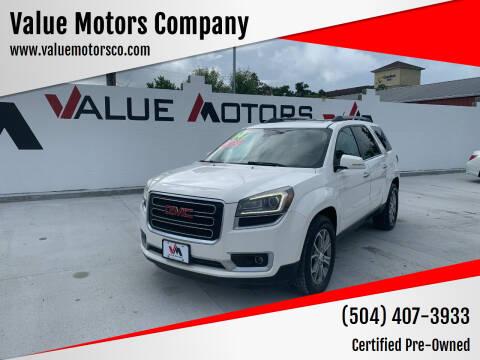 2014 GMC Acadia for sale at Value Motors Company in Marrero LA