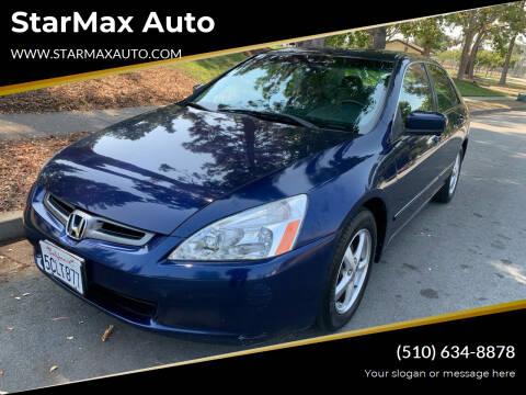2003 Honda Accord for sale at StarMax Auto in Fremont CA
