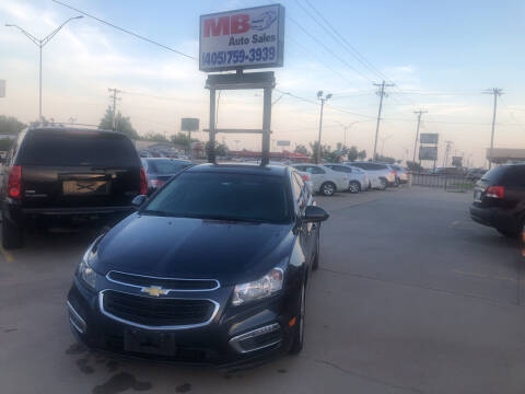 2015 Chevrolet Cruze for sale at MB Auto Sales in Oklahoma City OK