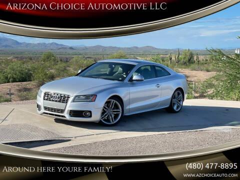 2009 Audi S5 for sale at Arizona Choice Automotive LLC in Mesa AZ