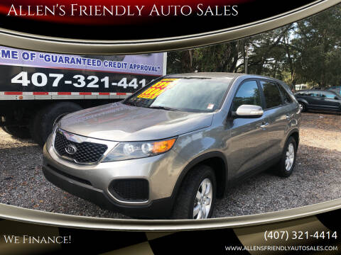 2013 Kia Sorento for sale at Allen's Friendly Auto Sales in Sanford FL