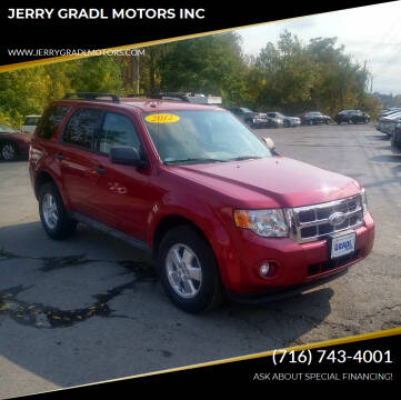 2012 Ford Escape for sale at JERRY GRADL MOTORS INC in North Tonawanda NY