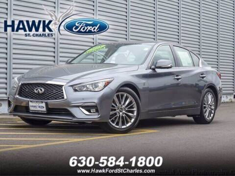 2018 Infiniti Q50 for sale at Hawk Ford of St. Charles in Saint Charles IL