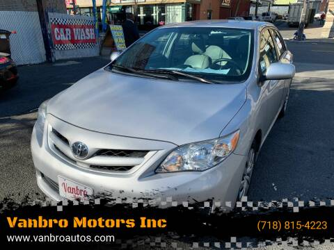 2012 Toyota Corolla for sale at Vanbro Motors Inc in Staten Island NY