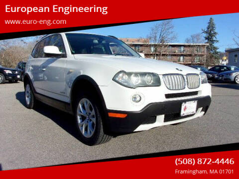 2010 BMW X3 for sale at European Engineering in Framingham MA