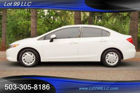 2012 Honda Civic for sale at LOT 99 LLC in Milwaukie OR