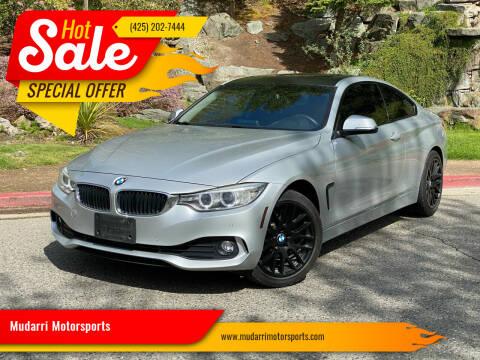 2014 BMW 4 Series for sale at Mudarri Motorsports in Kirkland WA