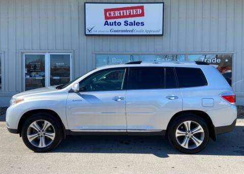 2011 Toyota Highlander for sale at Certified Auto Sales in Des Moines IA
