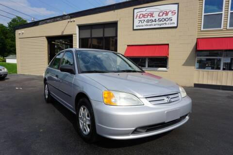 2003 Honda Civic for sale at I-Deal Cars LLC in York PA