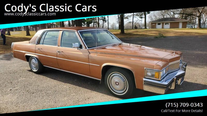 1978 Cadillac DeVille for sale at Cody's Classic Cars in Stanley WI