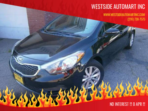 2014 Kia Forte for sale at WESTSIDE AUTOMART INC in Cleveland OH