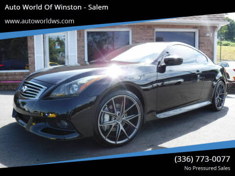 2013 Infiniti G37 Coupe for sale at Auto World Of Winston - Salem in Winston Salem NC