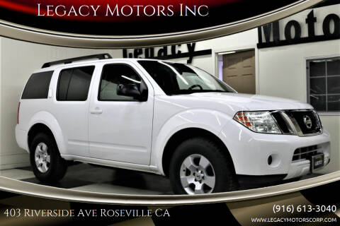 2009 Nissan Pathfinder for sale at Legacy Motors Inc in Roseville CA