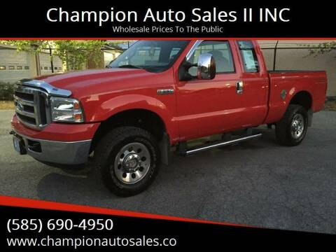 2006 Ford F-250 Super Duty for sale at Champion Auto Sales II INC in Rochester NY