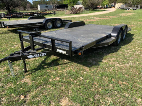 2021 FALCON 18' STEEL DECK CAR HAULER for sale at Trophy Trailers in New Braunfels TX