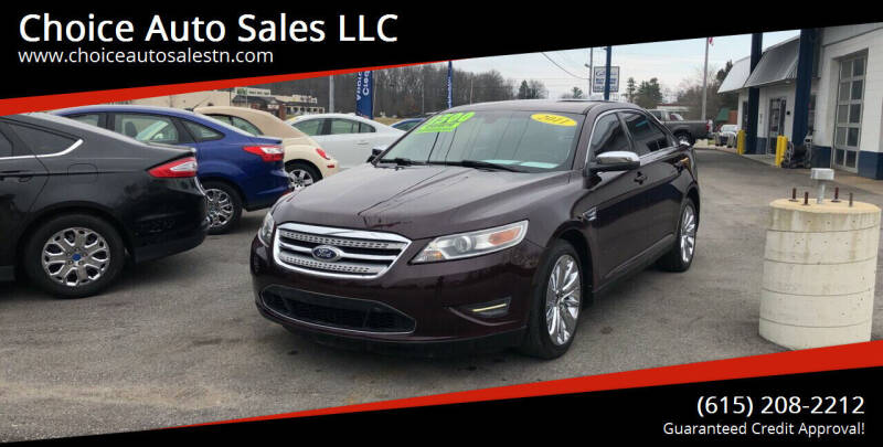 2011 Ford Taurus for sale at Choice Auto Sales LLC - Cash Inventory in White House TN