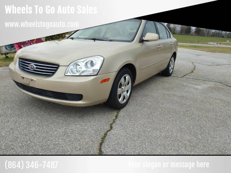 2007 Kia Optima for sale at Wheels To Go Auto Sales in Greenville SC