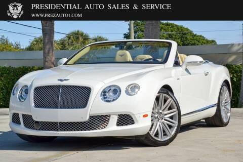 2014 Bentley Continental for sale at Presidential Auto  Sales & Service in Delray Beach FL