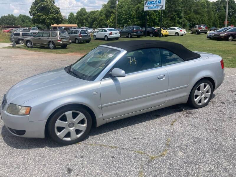 2006 Audi A4 for sale at UpCountry Motors in Taylors SC