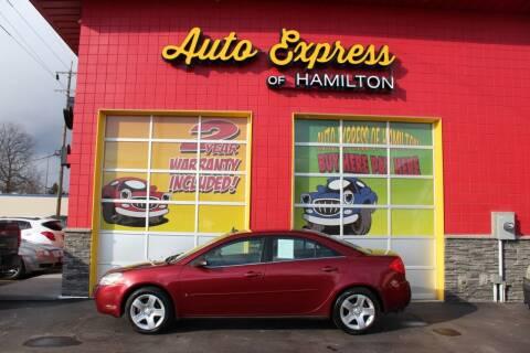 2009 Pontiac G6 for sale at AUTO EXPRESS OF HAMILTON LLC in Hamilton OH