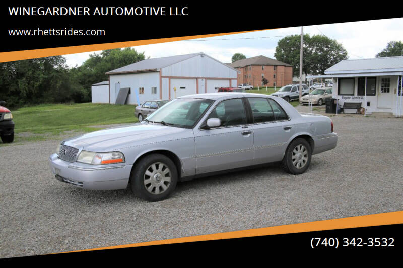 2003 Mercury Grand Marquis for sale at WINEGARDNER AUTOMOTIVE LLC in New Lexington OH