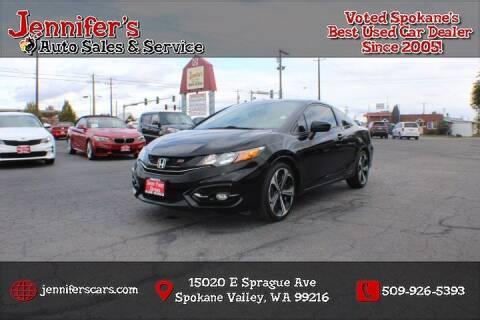 2015 Honda Civic for sale at Jennifer's Auto Sales in Spokane Valley WA