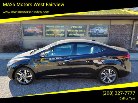 2014 Hyundai Elantra for sale at MASS Motors West Fairview in Boise ID