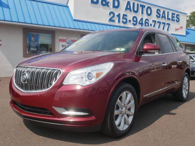 2016 Buick Enclave for sale at B & D Auto Sales Inc. in Fairless Hills PA