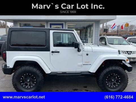 2013 Jeep Wrangler for sale at Marv`s Car Lot Inc. in Zeeland MI