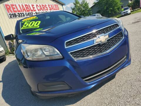 2013 Chevrolet Malibu for sale at Reliable Cars Sales in Michigan City IN
