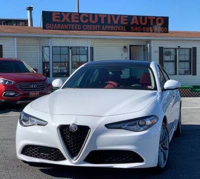 2017 Alfa Romeo Giulia for sale at Executive Auto in Winchester VA