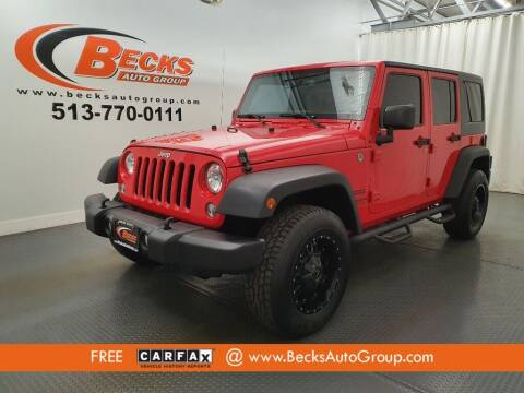 2015 Jeep Wrangler Unlimited for sale at Becks Auto Group in Mason OH