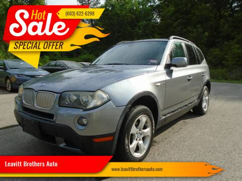 2007 BMW X3 for sale at Leavitt Brothers Auto in Hooksett NH