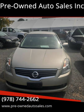 2009 Nissan Altima for sale at Pre-Owned Auto Sales Inc in Salem MA