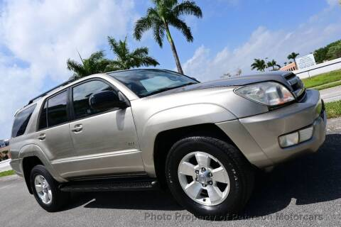 2004 Toyota 4Runner for sale at MOTORCARS in West Palm Beach FL