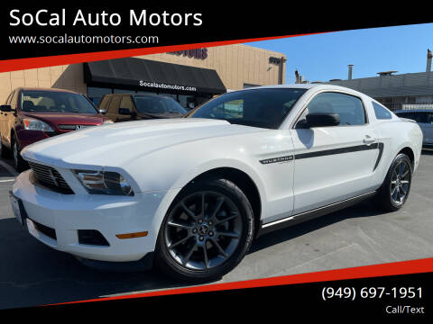 2012 Ford Mustang for sale at SoCal Auto Motors in Costa Mesa CA