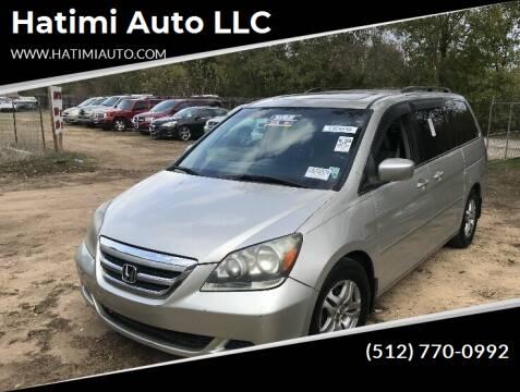 2006 Honda Odyssey for sale at Hatimi Auto LLC in Buda TX