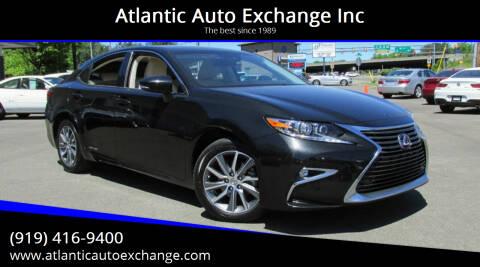 2016 Lexus ES 300h for sale at Atlantic Auto Exchange Inc in Durham NC